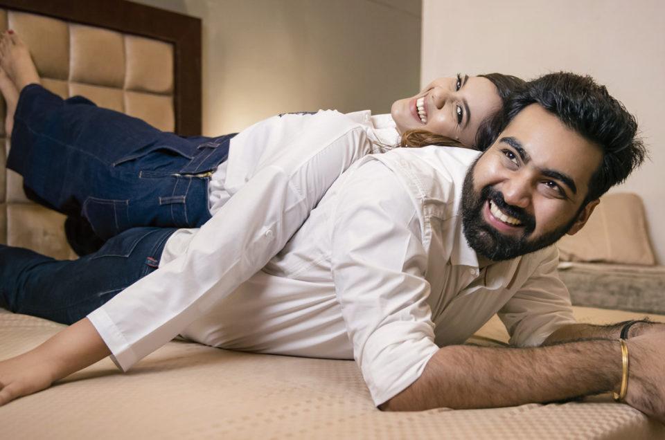 Shruti + Pranshu | Couple portrait session at home | Studio Finesse